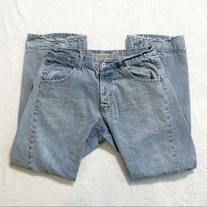 Diesel light blue grey straight leg denim jeans